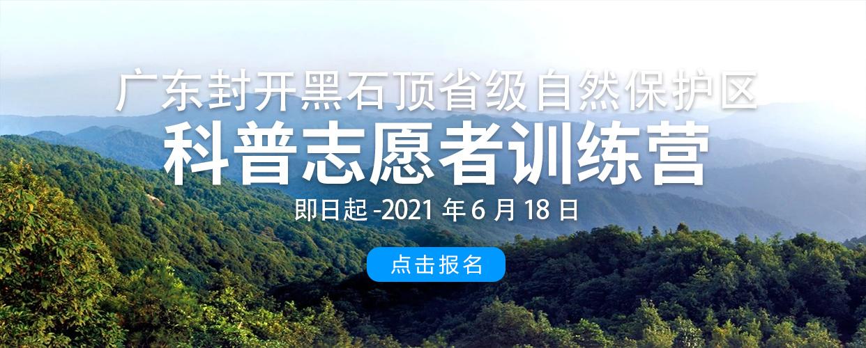 2021年广东封开黑石顶省级自然保护区科普志愿者训练营